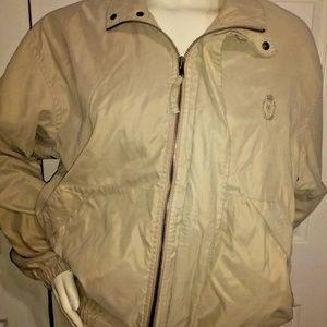 Chaps Ralph Lauren Mens Zip jacket Medium M Khaki